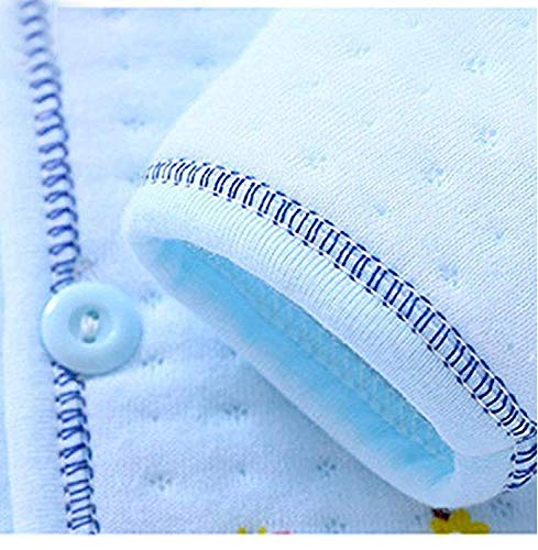 BENAVJI New Born Baby Winter Wear Keep Warm Cartoon Printing Baby Clothes 5Pcs Sets Baby Boys Girls Unisex Baby Fleece/Falalen Suit Infant Clothes 0-6 Months (Blue)