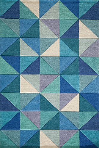 Cheap Momeni Rugs DELHIDL-44BLU5080 Delhi Collection 100% Wool Hand Carved & Hand Tufted Contemporary Area Rug, 5'0″ x 8'0″, Blue
