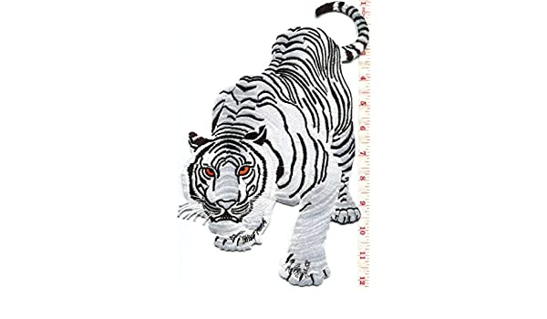 Jungle Design Wild Animal Embroidered Iron On Applique Patch Zebra