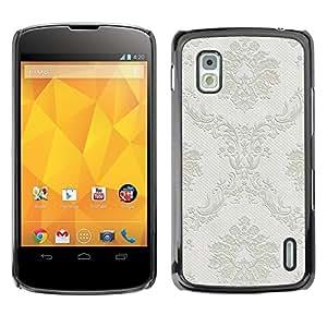 For LG Nexus 4 E960 - Grey Retro Vintage Wallpaper /Modelo de la piel protectora de la cubierta del caso/ - Super Marley Shop -