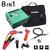Car Jump Starter with Air Compressor 8 in 1, Jump Pack 450 Peak 120 PSI 13000 mAh, 2 USB Ports and 2 LED Flashlights Build With This Jump Box, Special Sales for Back to School, By JF.EGWO