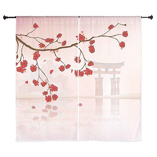CafePress - Pretty Cherry Blossom Against A Japanese Backgroun - 60
