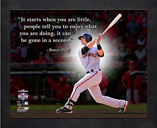 Buster Posey San Francisco Giants ProQuotes Photo (Size: 9'' x 11'') Framed
