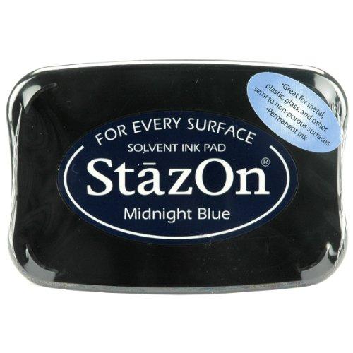 (Tsukineko Full-Size StazOn Multi-Surface Inkpad, Midnight Blue)