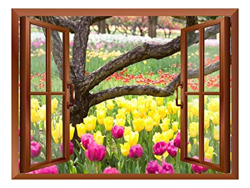 Bed of Tulips Removable Wall Sticker Wall Mural