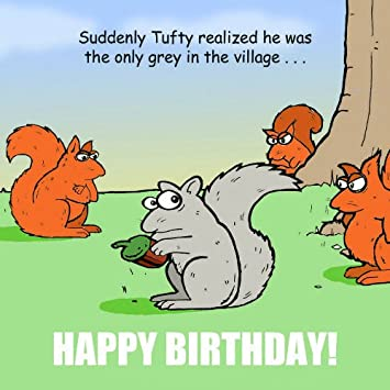 Twizler Funny Birthday Card With Squirrels Happy Birthday Card