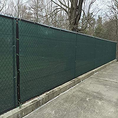 KUD Shade Green Fence Privacy Screen with Brass Grommets 150GSM Fencing Mesh Windscreen Heavy Duty for Outdoor Yard