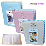 Xtech 3 Colorful Photo Albums (Blue, Pink & Beige) for Fuji Fujifilm Instax Film and for Fuji Fujifilm Instax Mini 9, Instax Mini 8, and all Fuji Fujifilm Mini Instax Cameras
