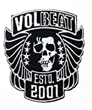 Music V Black Skull Wing Heavy Metal Death Metal Band Band Music Logo Patch Embroidered Sew Iron On Patches Badge Bags Hat Jeans Shoes T-Shirt Applique