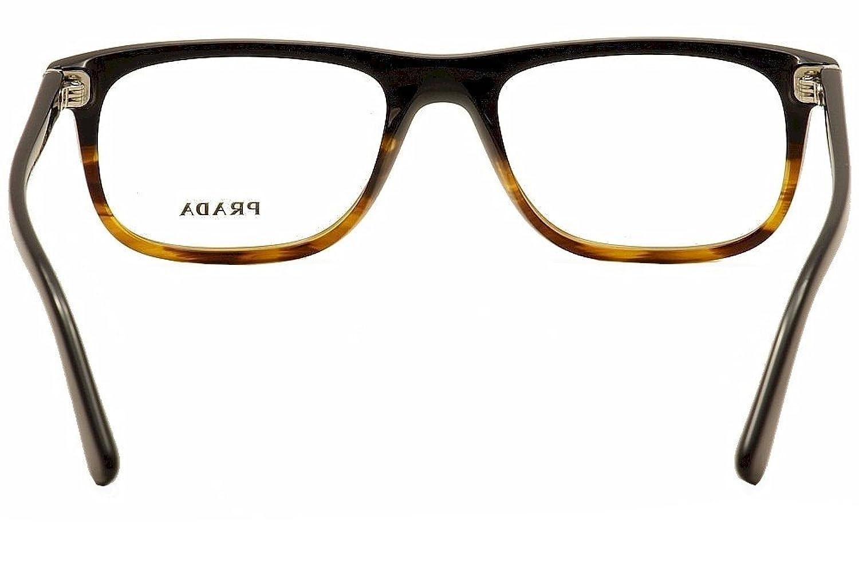 Prada Pr03rv Eyeglasses Tfj 1o1 Black Striped Havana 66 Mustang Wiring Harness For Heater 53mm Shoes