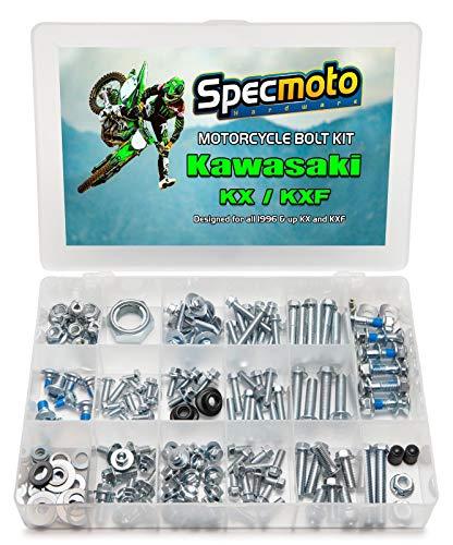 Specmoto Hardware Kawasaki Bolt Kit: KX/KXF Model Series Dirt Bike (1996-present)