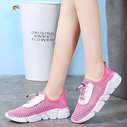 Mujer Atlético Zapatos Deportivo De Malla Transpirable Calzado Casuales Running Gimnasia Baloncesto Pink