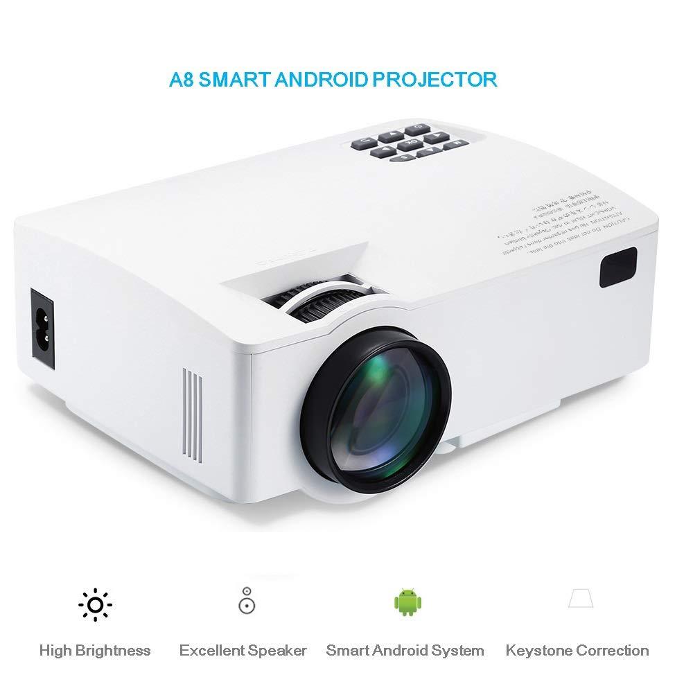 FAY Mini proyector inalámbrico LED, 1500 lúmenes HD LCD Proyector ...