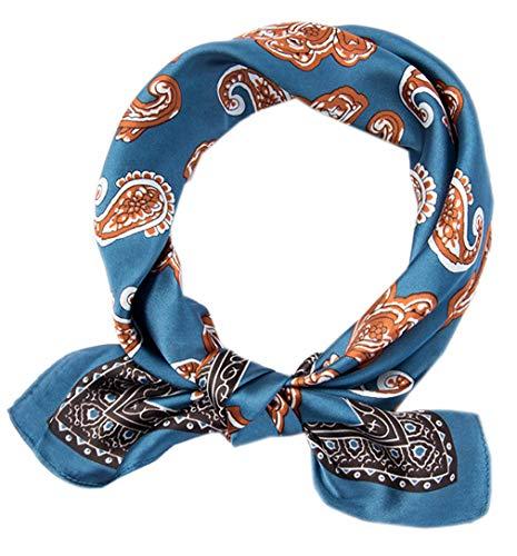 Square Silk Feeling Neckerchief Handbag Hair Scarf Bracelet Gift For Women/Men (FGJ01-6)