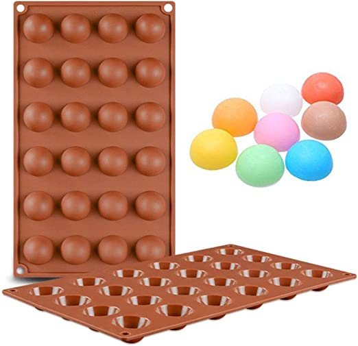 KBstore Moldes de Bombones de Silicona - Forma de Semi Esfera Hemisferio Molde de Silicone para Chocolate/Caramelo de Café/Cubo de Hielo/Gelatina #1: Amazon.es: Hogar