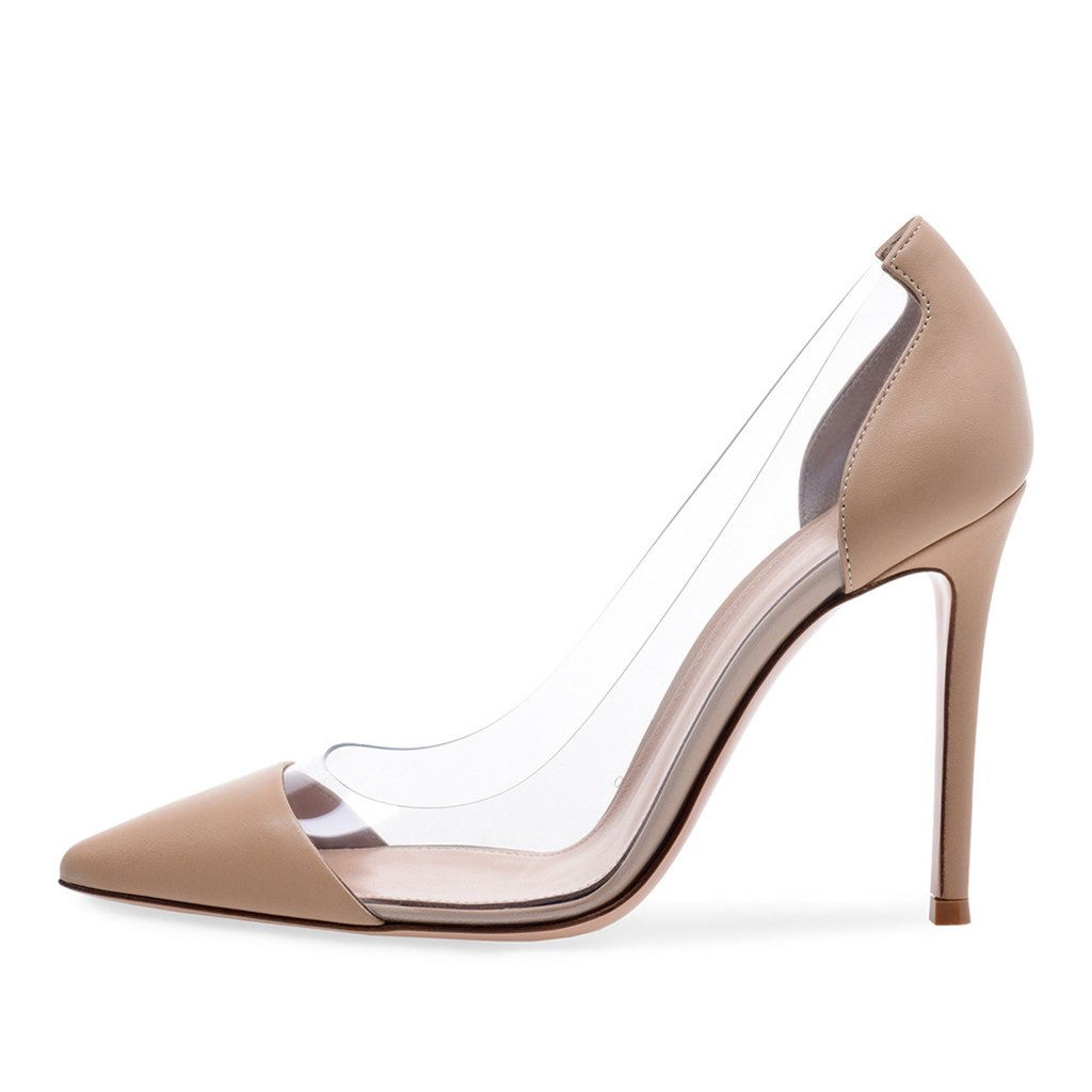 Girl Stitching Pointy Fashion Shoes Womens Delicate Slim Work High Heels