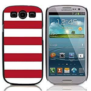 Graphic4You Color Stripes Pattern Design Hard Case Cover for Samsung Galaxy S3 S III (Red)
