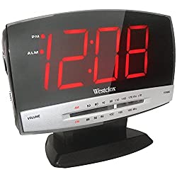 Westclox 80187 AM/FM LED Clock Radio (Renewed)