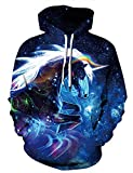 luyusbaby Boys Girls Unicorn Print Sweatshirts 3D Galaxy Pullover Kids Hoodies Pocket