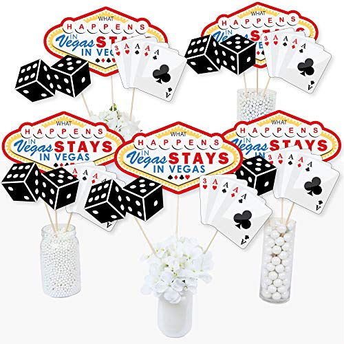 Las Vegas - Casino Party Centerpiece Sticks - Table Toppers - Set of 15]()