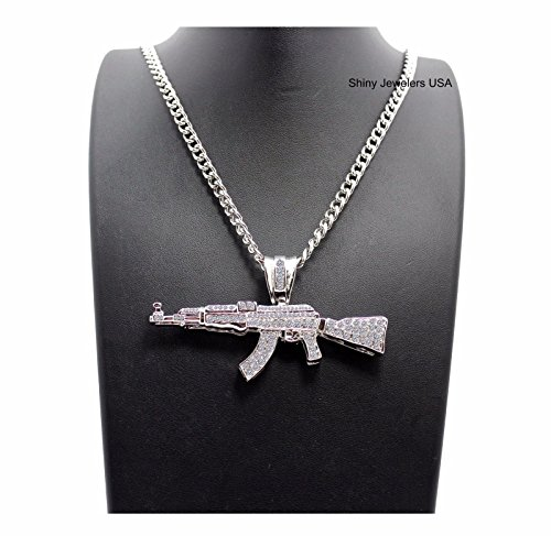 Jual MENS ICED OUT MACHINE GUN AK47 CHOPPER  0f7d244ce859