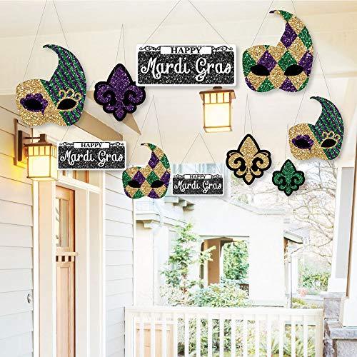 Hanging Mardi Gras - Outdoor Hanging Decor - Masquerade Decorations