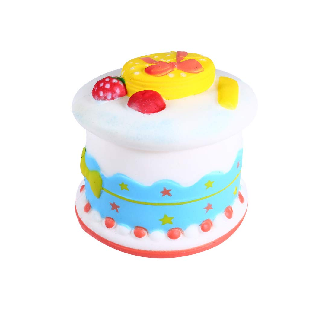 Kariwell Squishy Toys - Kawaii Squishy Squishies Slow Rising - Cream Squeeze Scented Reliever Stress Toy Adorable Toys (Cake B❤️)