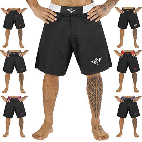 Elite Sports NEW ITEM Black Jack Series Fight Shorts – UFC, MMA, BJJ, Muay Thai, WOD, No-Gi, Kickboxing, Boxing Shorts