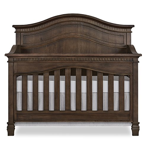 Evolur Cheyenne 5 in 1 Full Panel Convertible Crib in Antique Brown