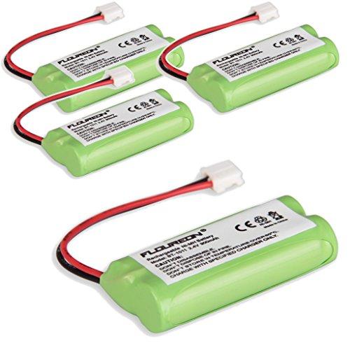 Floureon 4 Packs Rechargeable Cordless Phone Batteries for BT1011 BT-1011 BT1018 BT-1018 BT1022 BT-1022 BT18433 BT-18433, BT18432 BT-184342, BT28433 BT-28433, BT284342 BT-284342 CS6219