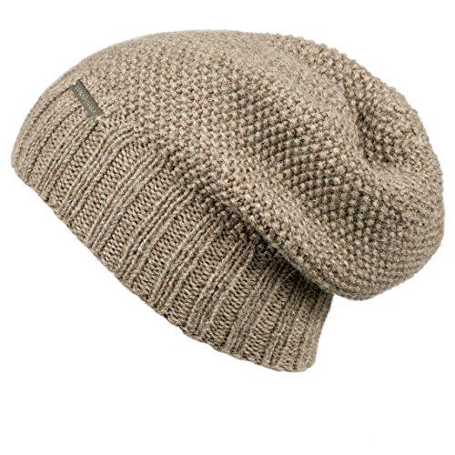 Baby Alpaca Beanie Hat (LUNA & TERRA - TRIESTE Hat Beanie Hand Knitted 100% BABY ALPACA (Habano))