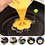 Fried Egg Mold Ring Set of 10 - CHANMOL Stainless Steel Non-Stick Egg Shaper Ring with Silicone Pastry Brush and Egg Separator, Kitchen Cooking Tools for Kids and Lovers 11 BRILLIANT DESIGN -- Star/Heart/Sun/Plum Flower/Mouse/Horse/Elephant/Bear 8 different lovely molds making pancake or egg with funny shapes easily. You can use them to make any delicious food you can think about, such as dessert, pastry, chapatty, jelly. Just have them and get your imagination started! PREMIUM QUALITY-- Our egg molds are made of stainless steel 18/8 with passed FDA certification ,and fully surgical-graded stainless-steel interior and outside , which gives it a brilliant, durable, rust-resistant finish that is easy to maintain, and will last a lifetime. CONVENIENCE-- Single weight about 32g, compact, durable & easy to use. Foldable handles with heat resistance silicone prevents burns to the hands, convenient to move and store. One silicone pastry brush and one egg yolk white separator are also included as bonus for you.