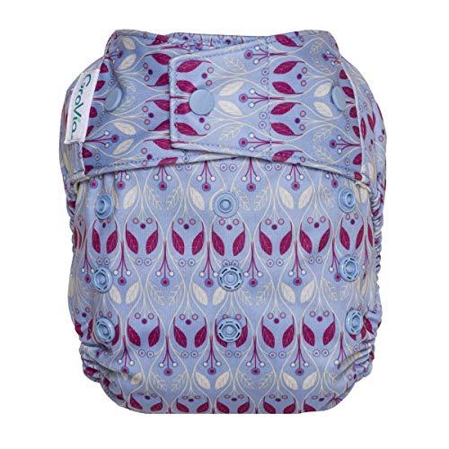 GroVia Reusable Hybrid Baby Cloth Diaper Snap Shell (Waverly), One Size