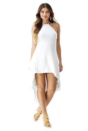 Sky Womens Osmond High Low Dress White At Amazon Womens Clothing