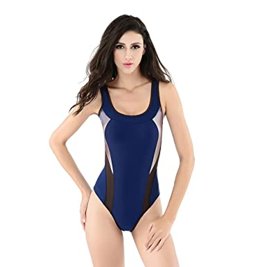 af90d0b992b47 U.R.dream Women s Retro Raceback One Piece Swimsuit Bathing Suit at ...