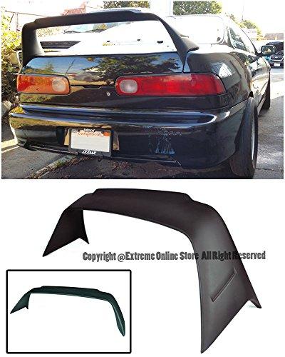 For 94-01 Acura Integra 4Dr Sedan DC2 Mugen Gen 1 Style ABS Plastic Rear Trunk Lid Spoiler Wing Lip Splitter 1994 1995 1996 1997 1998 1999 2000 2001 94 95 96 97 98 99 00 01 - Integra Mugen Lip