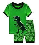 GSVIBK Boys Pajamas Kids Cotton 2 Piece Sleepwear Long/Short Sleeve Pajama Set Toddler Boy Dinosaur Pajamas