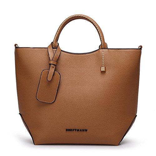 Bag Diagonal Waterproof Red Bucket Bag Yellow Color Bag PU FangYOU1314 Cross Shoulder Women's 6x0IP5nqwR
