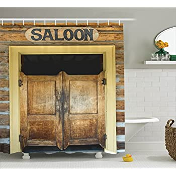 Ambesonne Saloon Decor Collection Authentic Saloon Doors Of Old Western Building In Montana Ghost Town & Amazon.com: Ambesonne Saloon Decor Collection Authentic Saloon ... pezcame.com