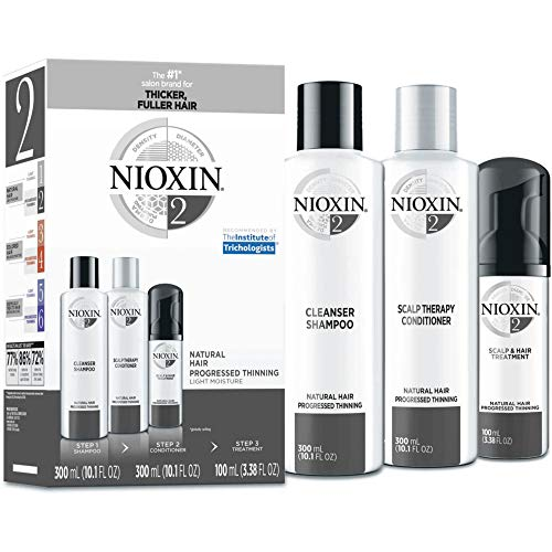 Nioxin Hair Care Kit System 2 for Fine Hair with Progressed Thinning, 3 Count (Cleanser System Nioxin 3)