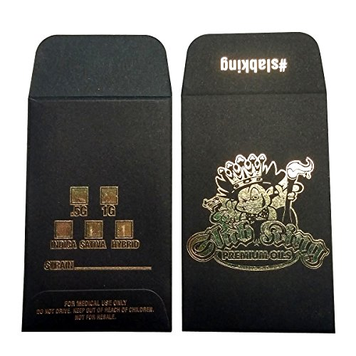 1000 Original Black Gold SLAB KING Wax Shatter Labels Coin Foil Envelopes #029 by Shatter Labels