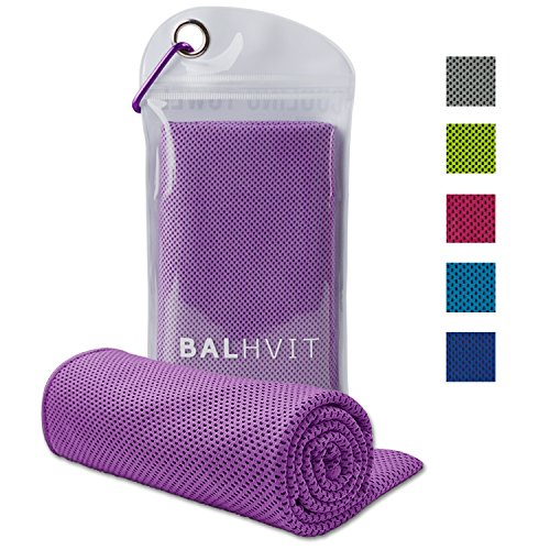 Balhvit Cooling Towel, Cool Towel for Instant Cooling Relief, Chilling Neck Wrap, Ice Cold Scarf For Men & Women, 40x12