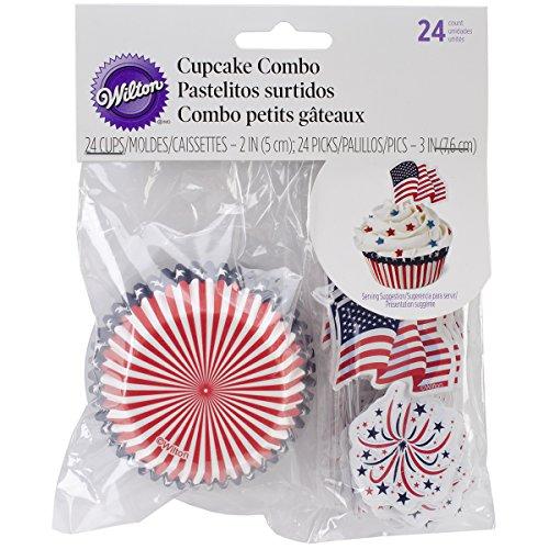 Wilton 415-2315 Patriotic Cupcake Decorating Kit