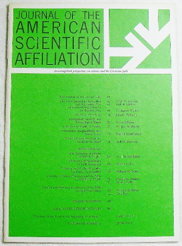 Journal of the American Scientific Affiliation, Volume 23 Number 2, June 1971