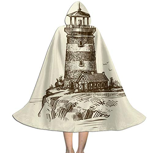 Ywan781jie Lighthouse On Seashore Sketch Seascape Vintage