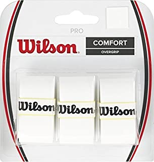 Wilson Tennis Racquet Pro Over Grip, White, Pack of 3 by Wilson