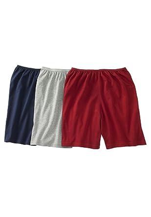 Comfort Choice Women's Plus Size 3-Pack Cotton Boxer Briefs at ...