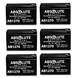 6 Pack New AB1270 12V 7AH SLA Battery Replacement for PowerStar SEC1075
