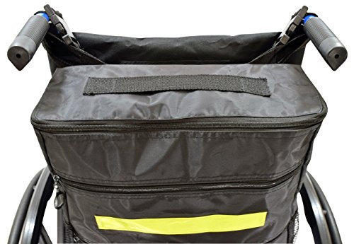 Secure WBP-1B Wheelchair Storage Backpack Bag with Multiple Pockets and Nighttime Safety Reflector, Black (13'' x 12.5''x 3'') by Secure (Image #2)