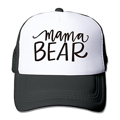 Mama Bear Polyester Ladies' Adjustable Mesh Back Trucker Caps Trucker Core Baseball Cap Halloween Holiday - Michael Core